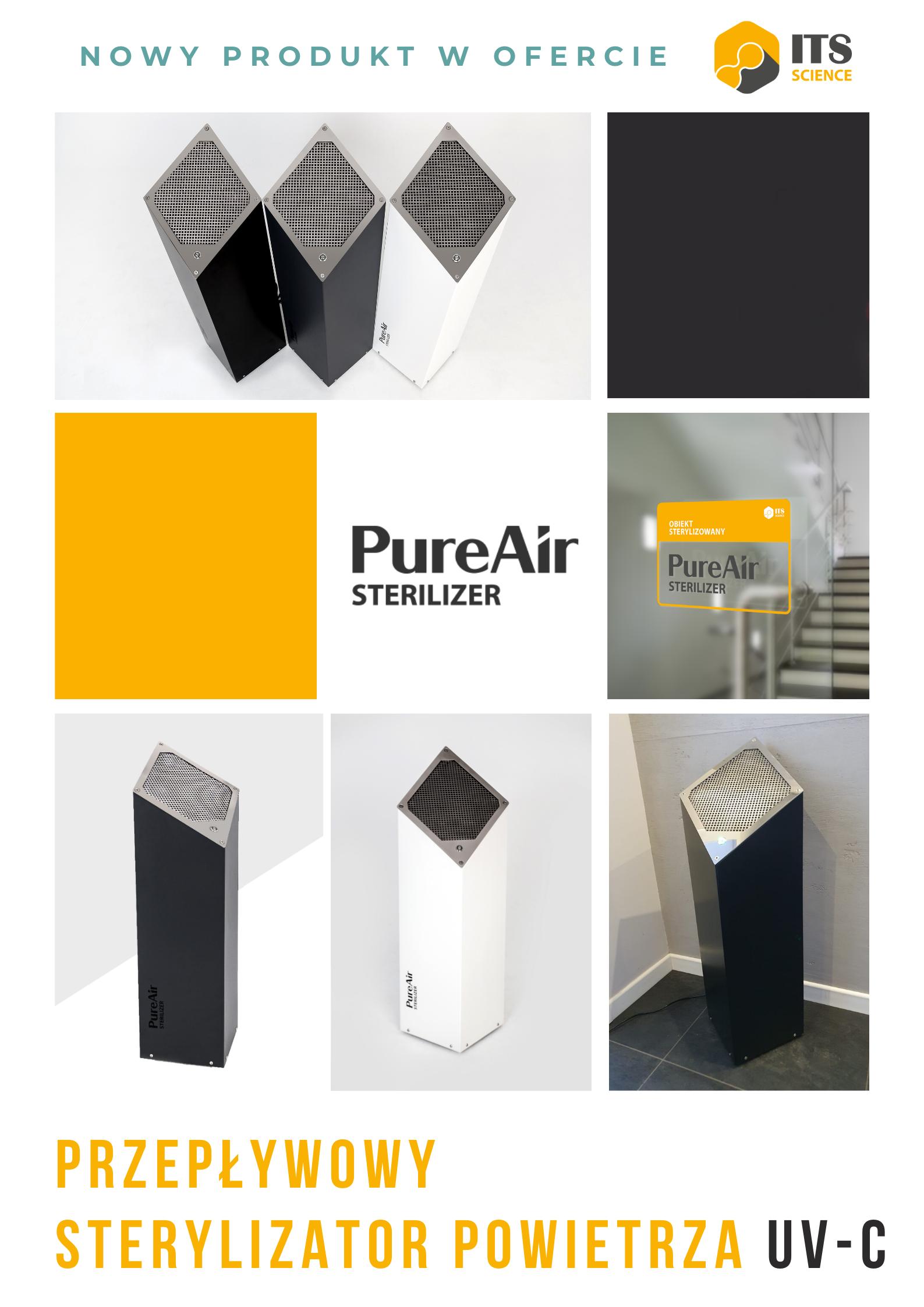 Przedstawiamy nasz nowy PureAir Sterilizer UV-C