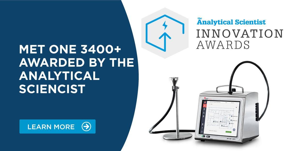 Licznik cząstek MET ONE 3400+ nagrodzony w konkursach:  The Analytical Scientist Innovation Awards 2020 oraz Pharma Innovation Awards 2020