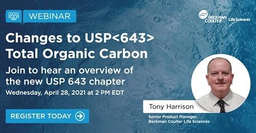 Zapraszamy na WEBINARIUM: Zmiany w USP 643 - zawartość całkowitego węgla organicznego w wodach farmaceutycznych